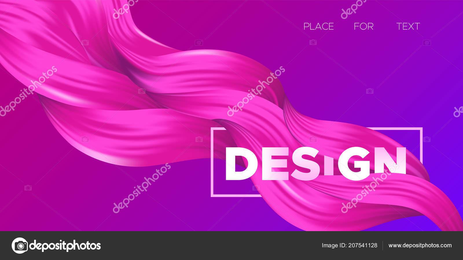 Vector Illustration Eps10 Magnifique Imbrication Fluide De Labstrait Design Art Creatif Couleur Liquide Ondules Pour Carte Visite Bannieres