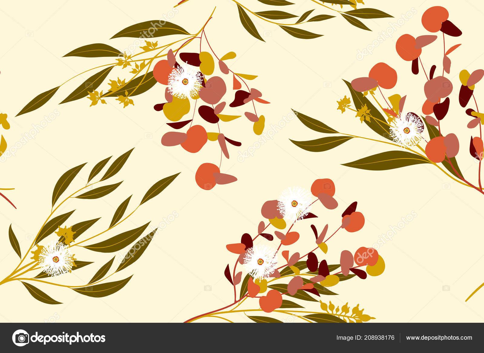 Tropical de patrones sin fisuras. Vector hermosa elementos florales ...