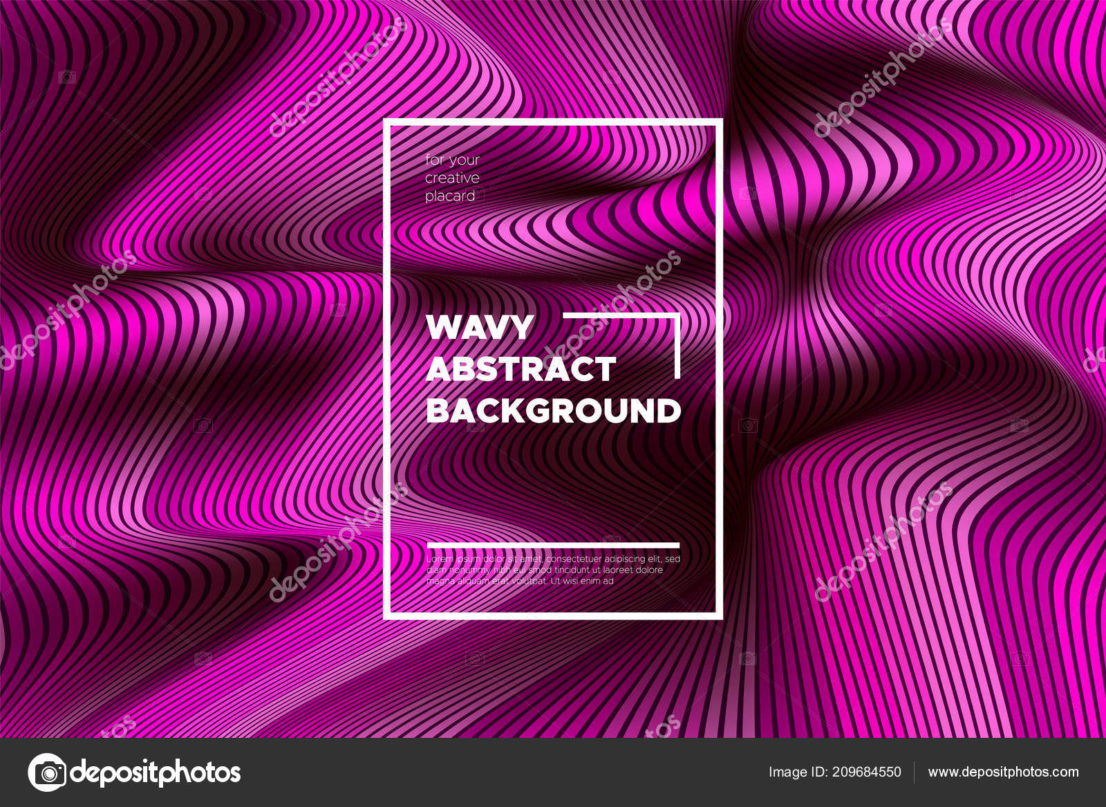 pink wave poster abstract geometric background with bright wave lines in futuristic style