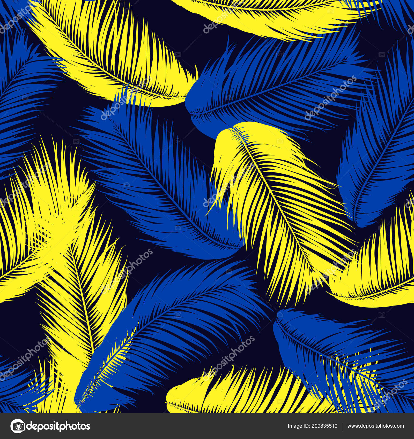 Abstract Exotic Wallpaper With Palm Leaves Pink Feathers For Design Cloth Fabric Textile EPS10 Vector By Ingara