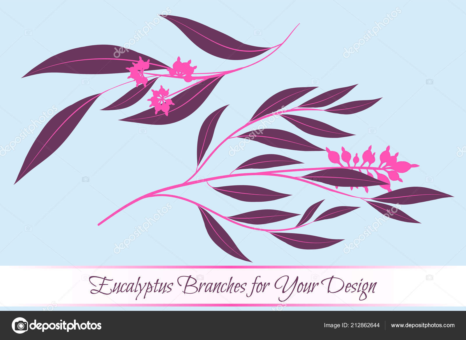 Eucalyptus vector decorative vector leaves and branches elegant eucalyptus vector decorative vector leaves and branches elegant foliage beautiful floral element for stopboris Image collections