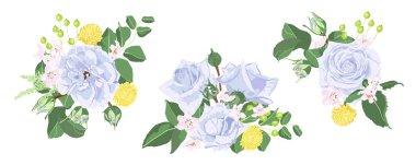 Vintage Purple Roses and Rustic Wedding Wreath.