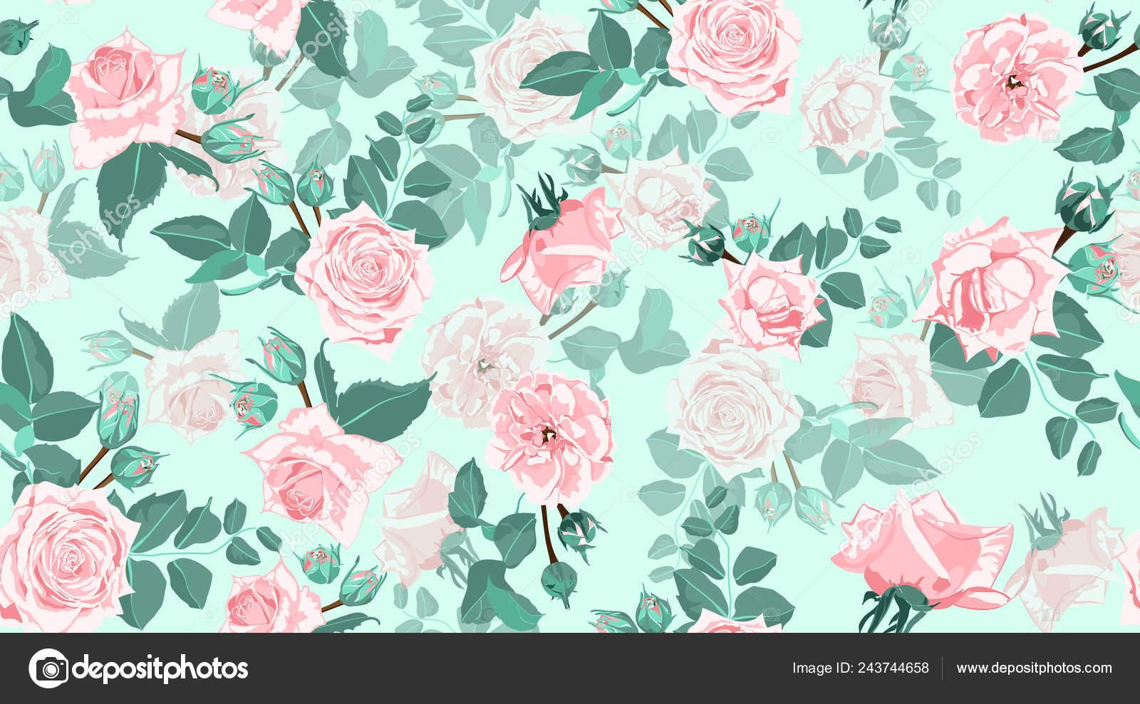 Vintage Roses Seamless Floral Pattern Stock Vector C Ingara
