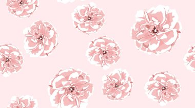 Watercolor Roses, Floral Seamless Pattern.