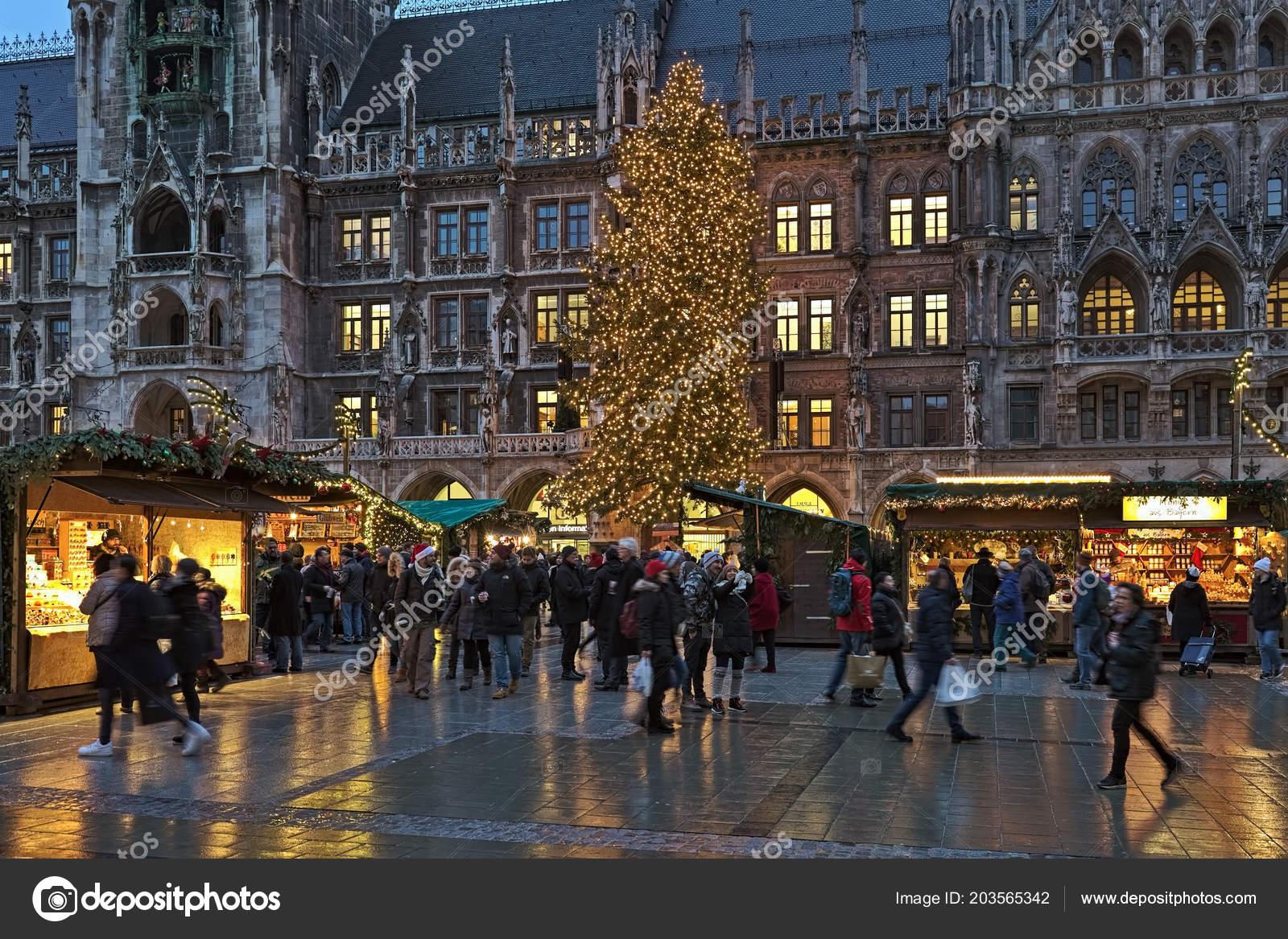 Marienplatz Weihnachtsmarkt.München Deutschland Dezember 2017 Die Stadt Wichtigsten