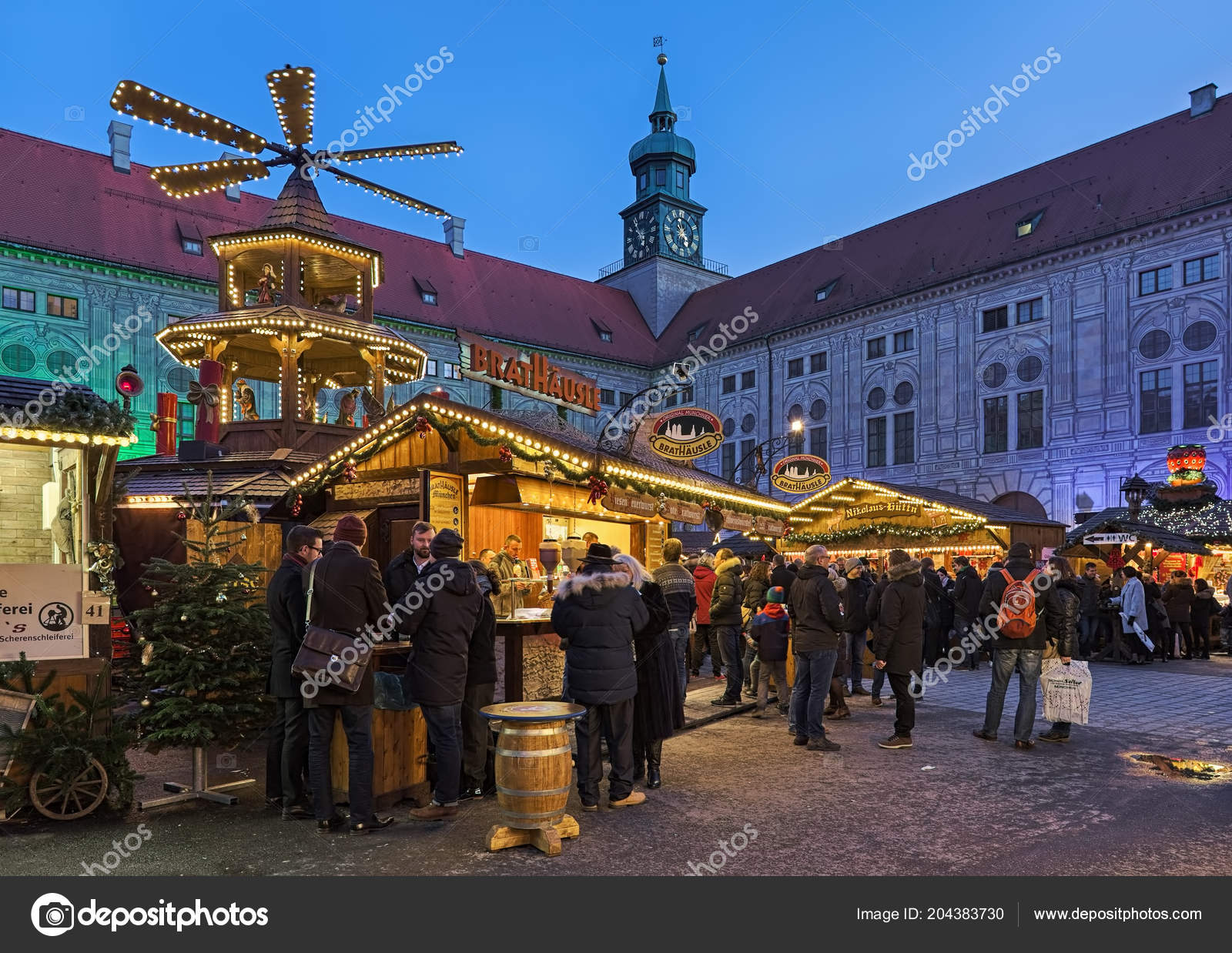 Christmas Village In Germany.Munich Germany December 2017 Christmas Village Emperor Court