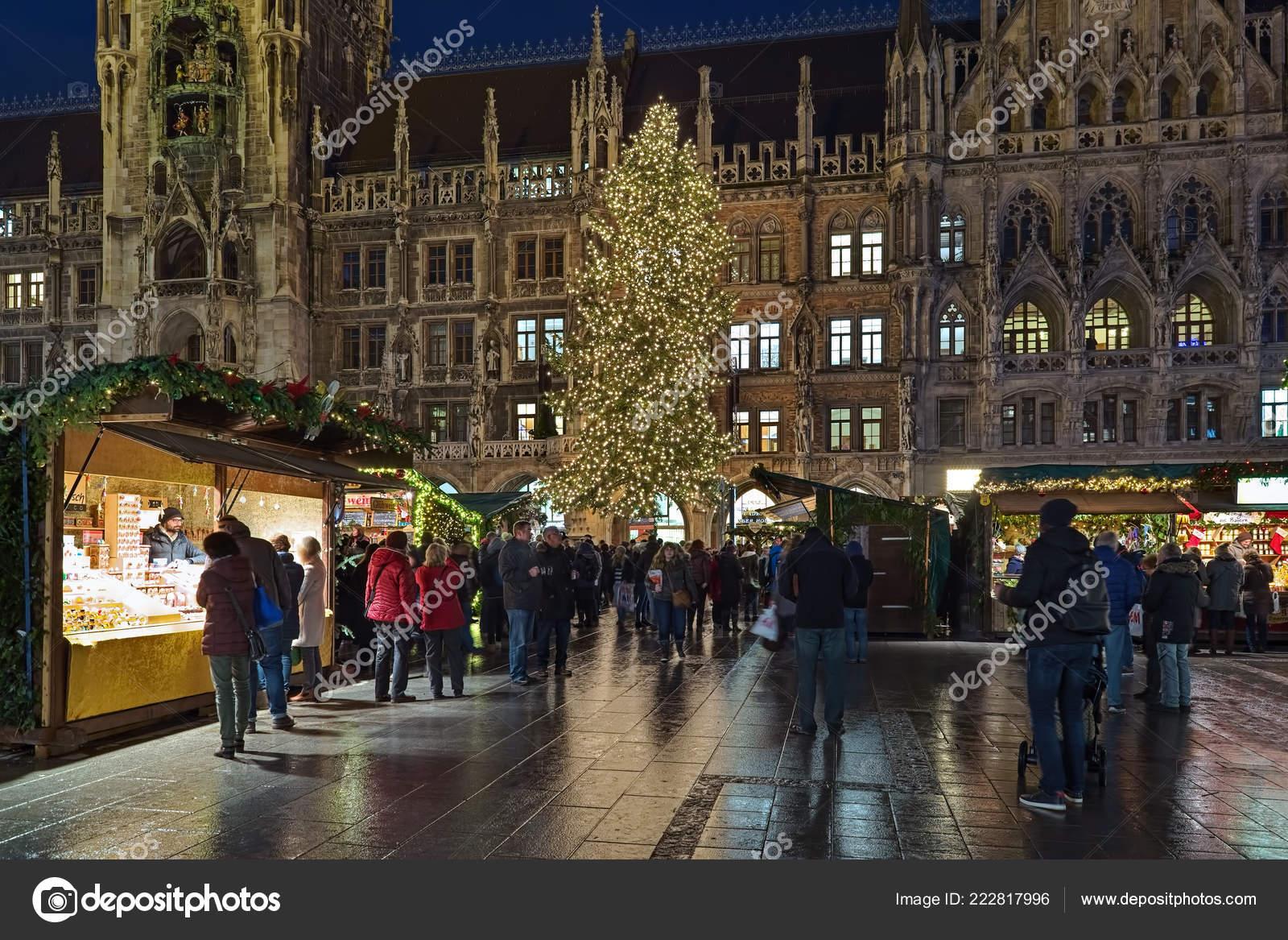 München Weihnachtsmarkt.München Deutschland Dezember 2017 Die Stadt Wichtigsten