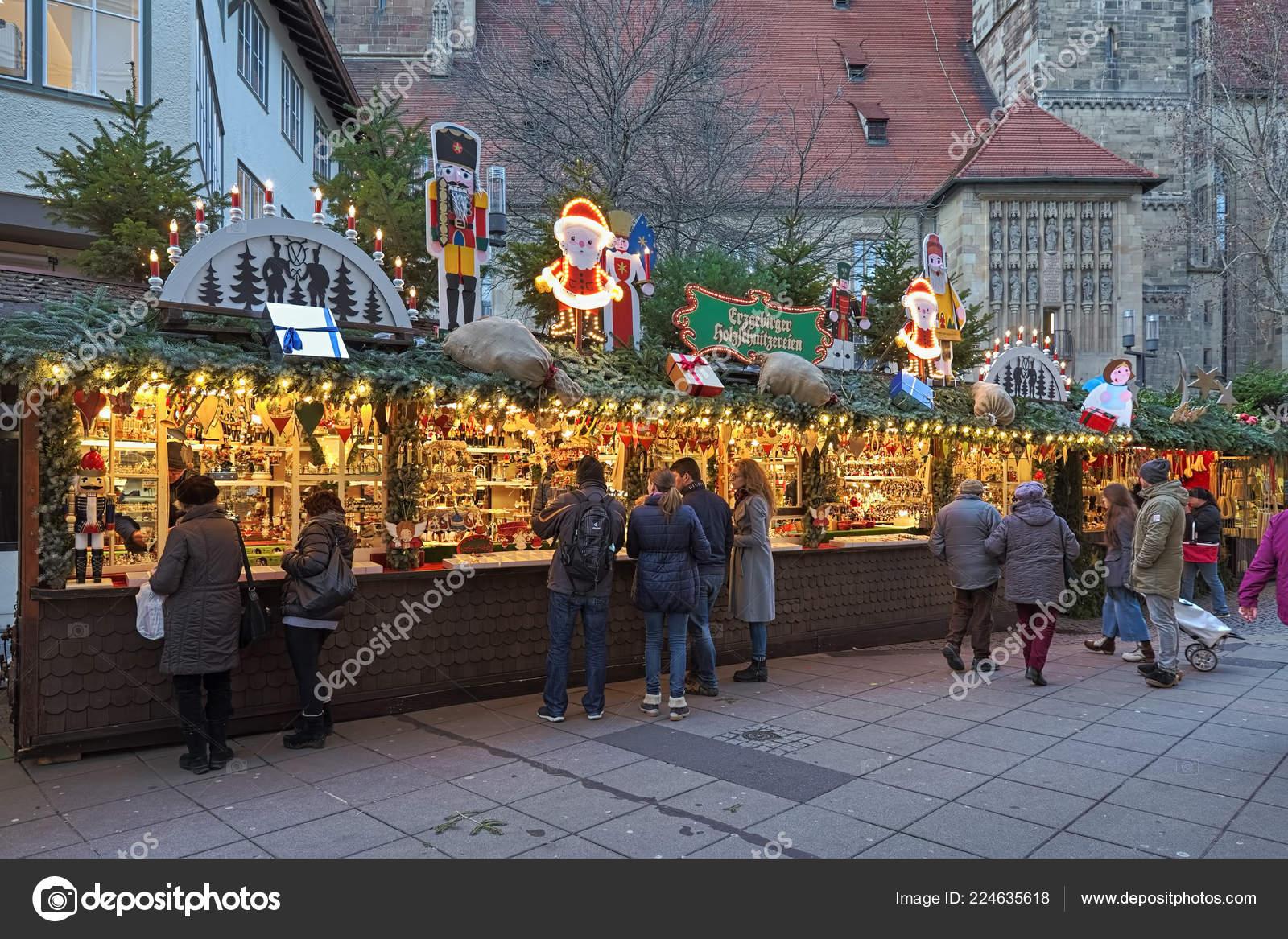 Christmas In Stuttgart Germany.Stuttgart Germany December 2017 Market Stalls Christmas