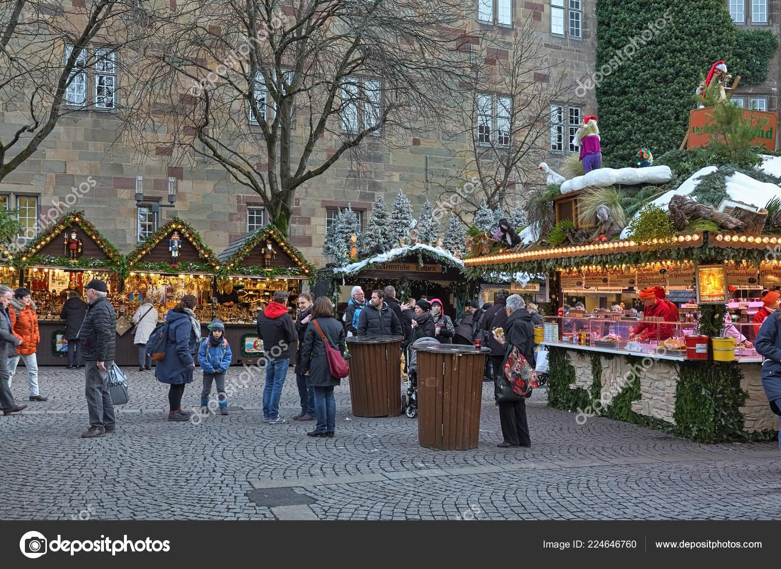 Christmas In Stuttgart Germany.Stuttgart Germany December 2017 Christmas Market