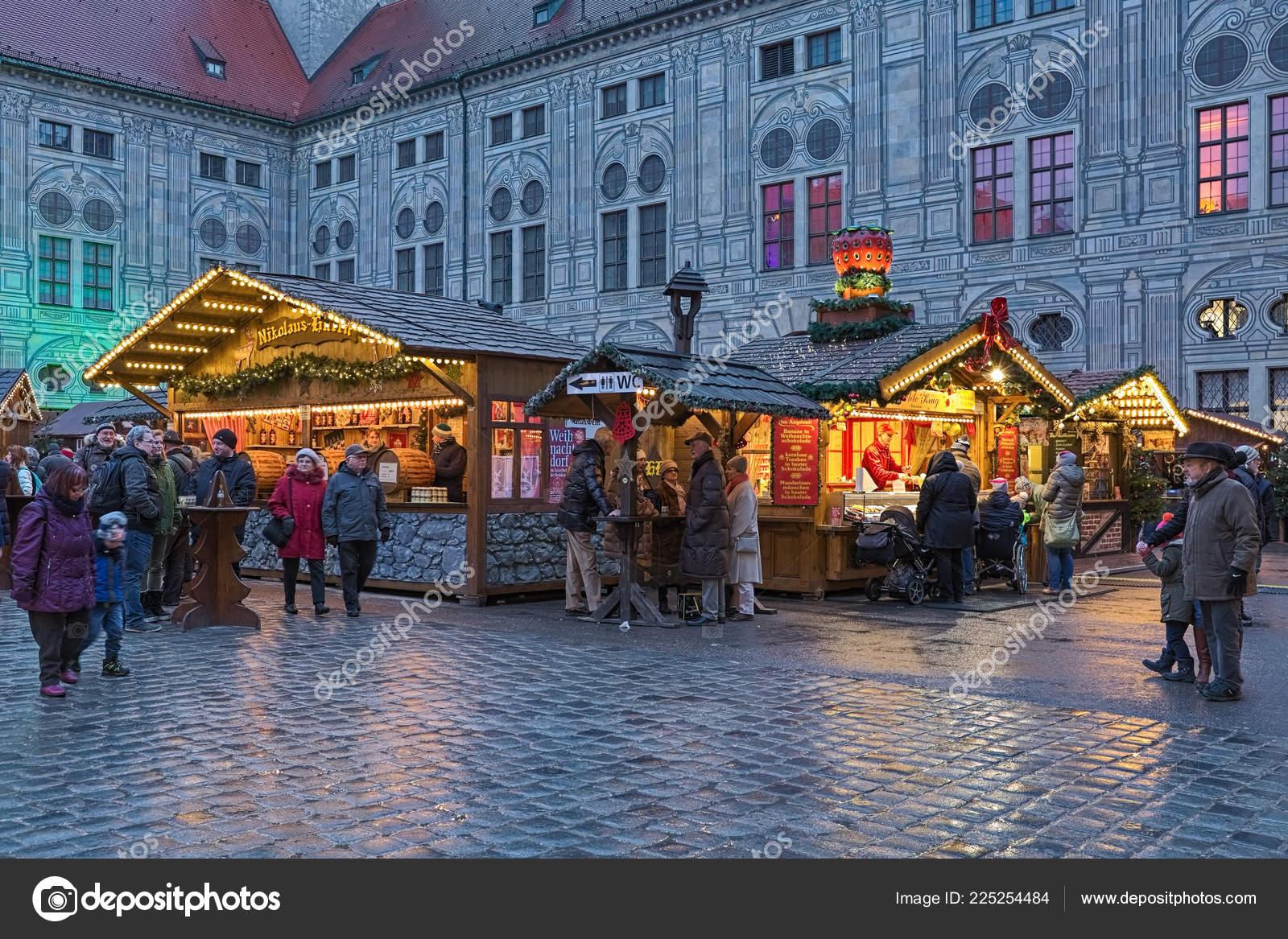 Munich Germany Christmas.Munich Germany December 2017 Christmas Village Emperor Court