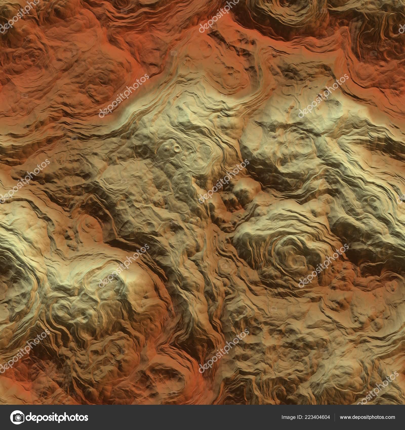 Fantasy planet terrain seamless texture or background