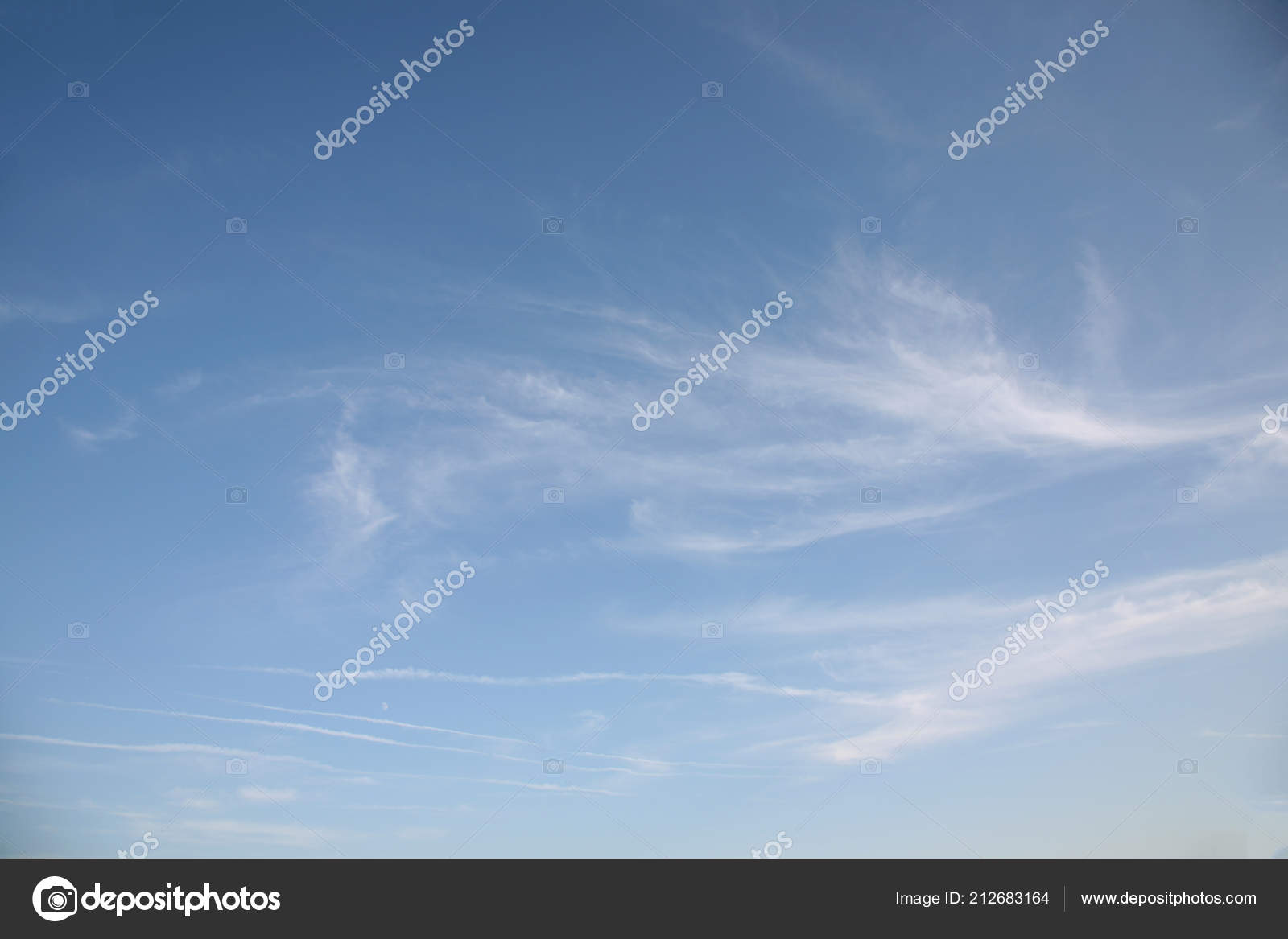 Reach For Clouds >> Fly Very Thin Clouds Beautiful Sky White Threads Reach Light Stock
