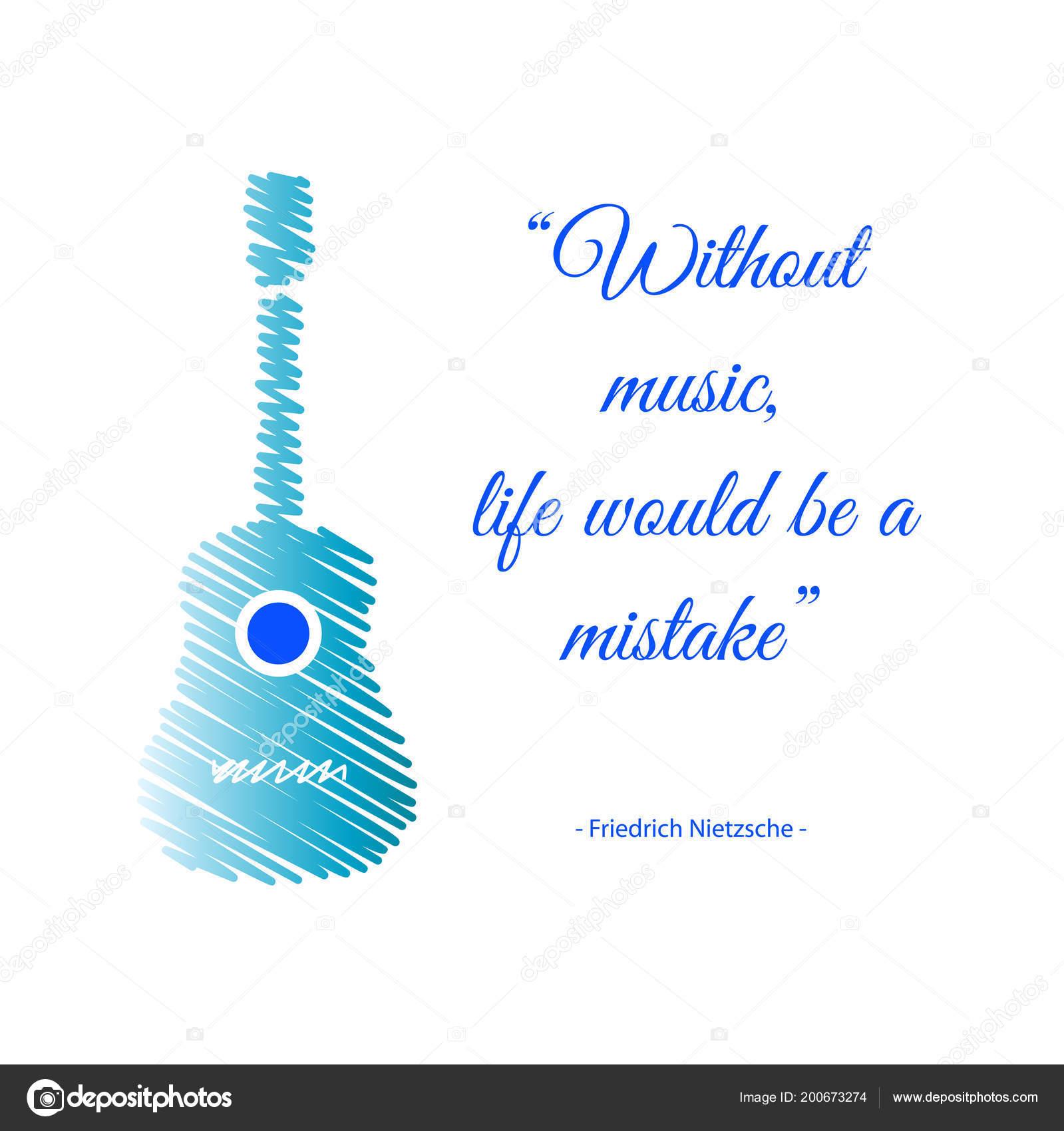музыкальные гитара цитата музыки жизнь ошибкой векторное