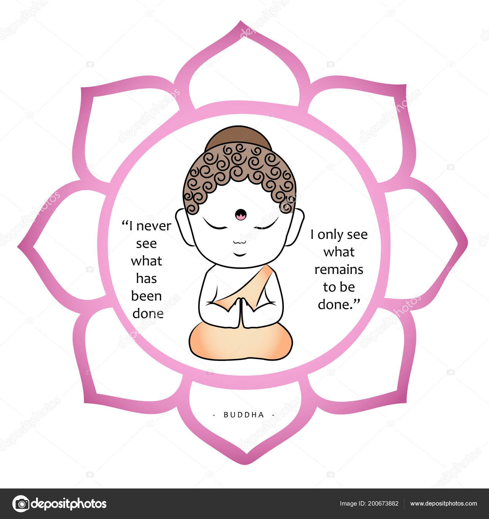 Pequeño Buda Frase Motivacional Archivo Imágenes