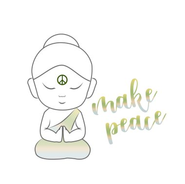 Buddha with an inspirational message stock vector