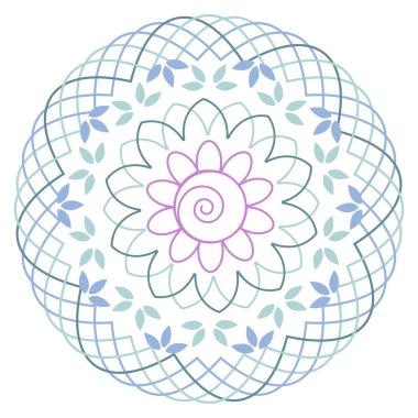 Lotus flower geometric mandala