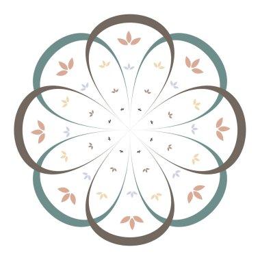 Minimalist flower and leaf mandala