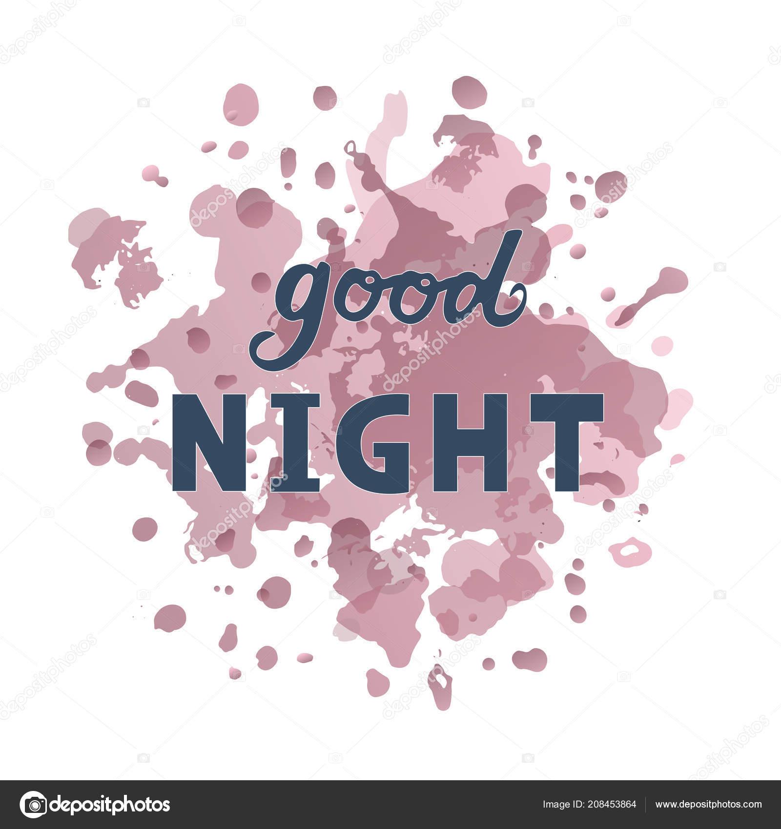 Vector Illustration Good Night Text Logotype Flyer Banner Invitaion