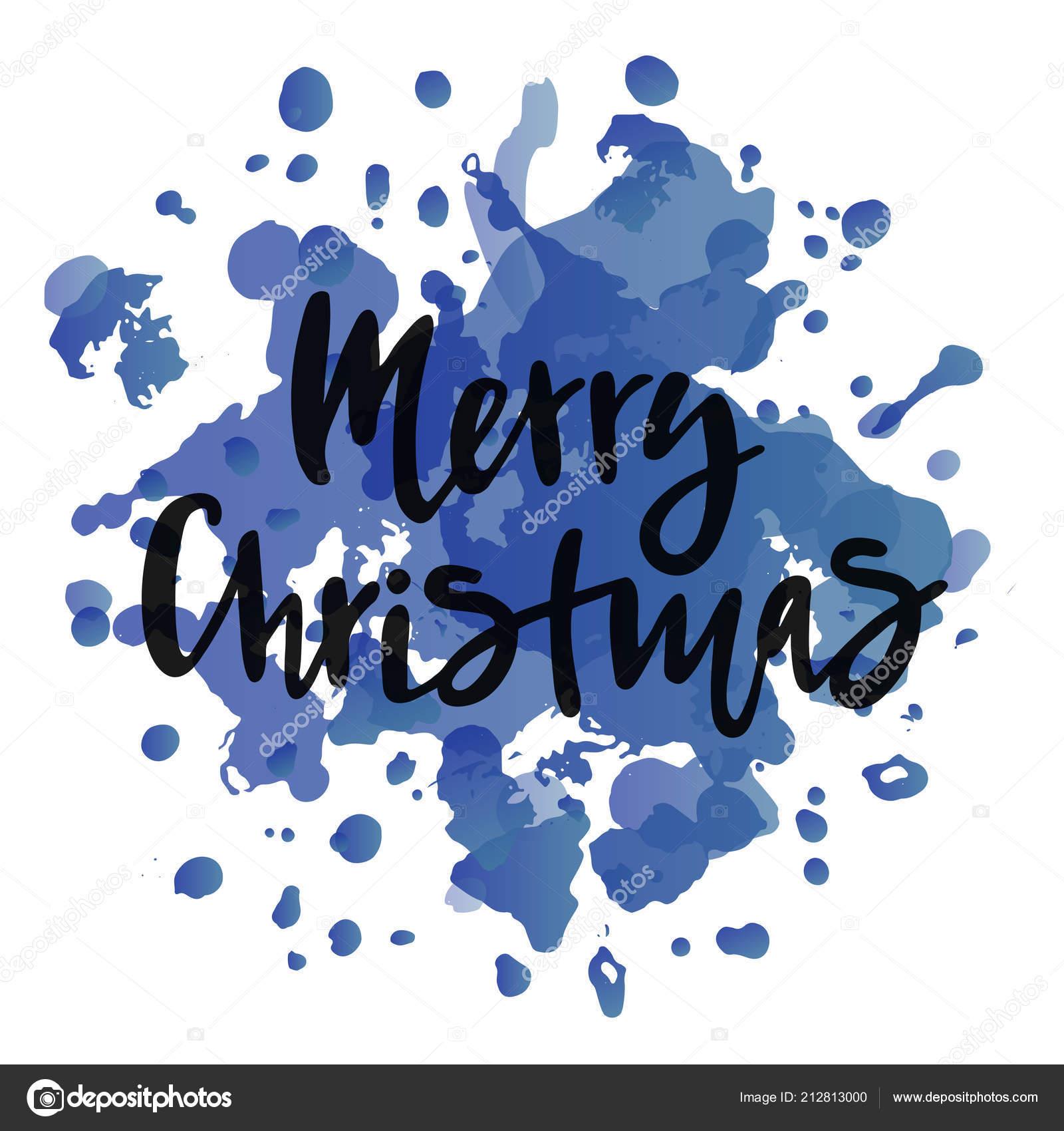 Merry Christmas Text Calendar Invitation Greeting Card Postcard ...