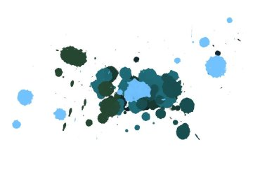 Abstract watercolor aquarelle hand drawn paint splatter stain on white background