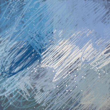 """Картина, постер, плакат, фотообои """"голубой и белый фон картина цветы"""", артикул 284157250"""