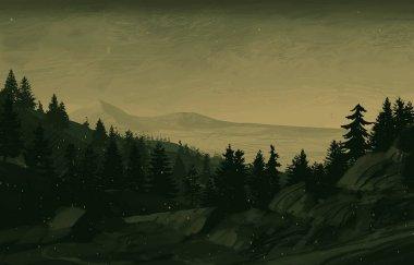 scenic view of mountainous scene with trees