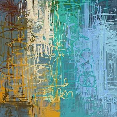 """Картина, постер, плакат, фотообои """"абстрактный гранж фон с различными цветовыми узорами картина пейзаж все"""", артикул 288073470"""