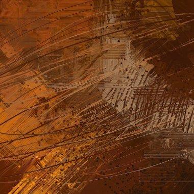 "Картина, постер, плакат, фотообои ""абстрактный гранж фон с различными узорами картина пейзаж постеры портрет ретр"", артикул 288651840"