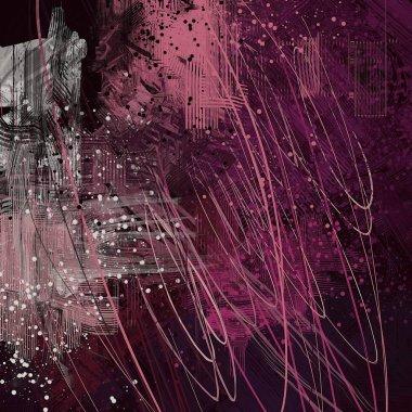 """Картина, постер, плакат, фотообои """"абстрактный гранж фон с различными цветовыми узорами абстракция все"""", артикул 289723156"""