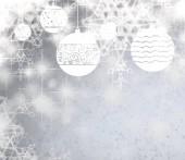 Vánoční přání s sněhové vločky