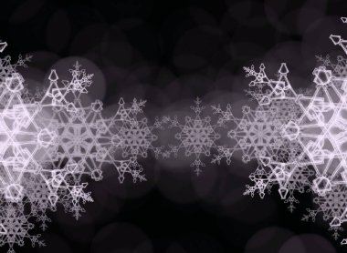 abstract seamless background with snowflakes