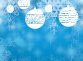 Vánoční pozadí s modrou a bílou