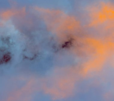 abstract grunge clouds, colorful background with copy space