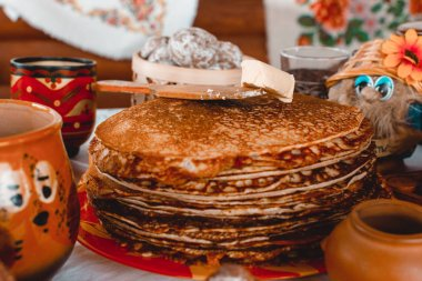 Many pancakes for Shrovetide