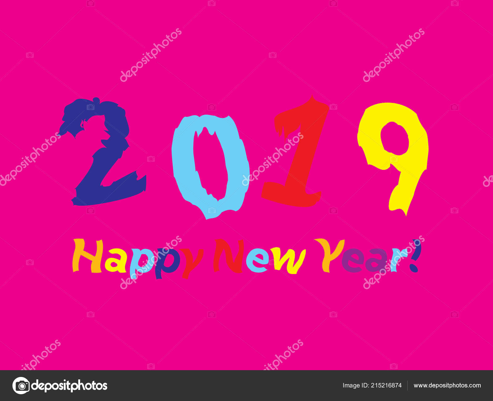 2019 colorful funky greetings stock vector wolyalya gmail com
