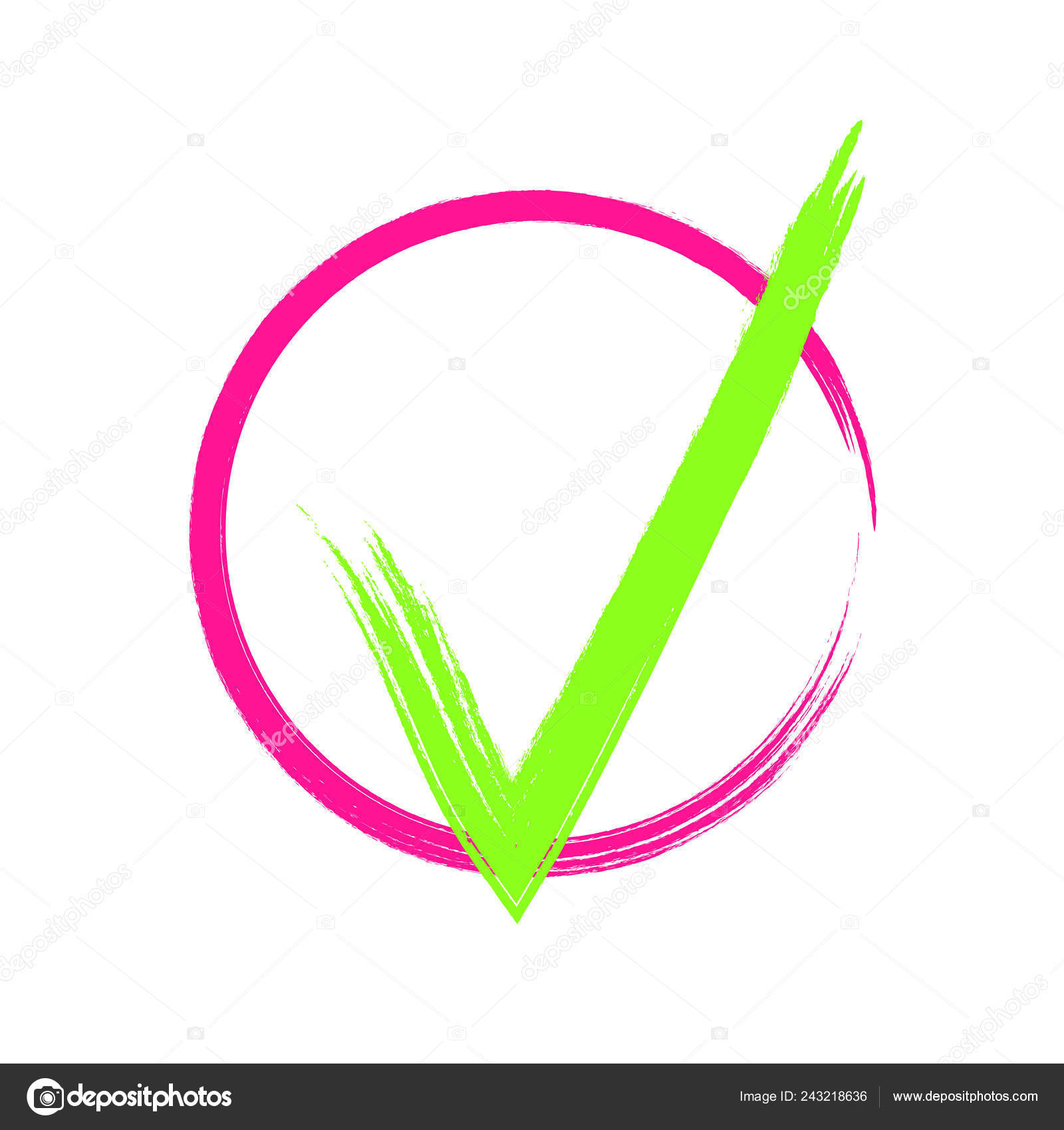 Diseño De Marca De Tick De Cepillo Vector De Stock Wolyalya