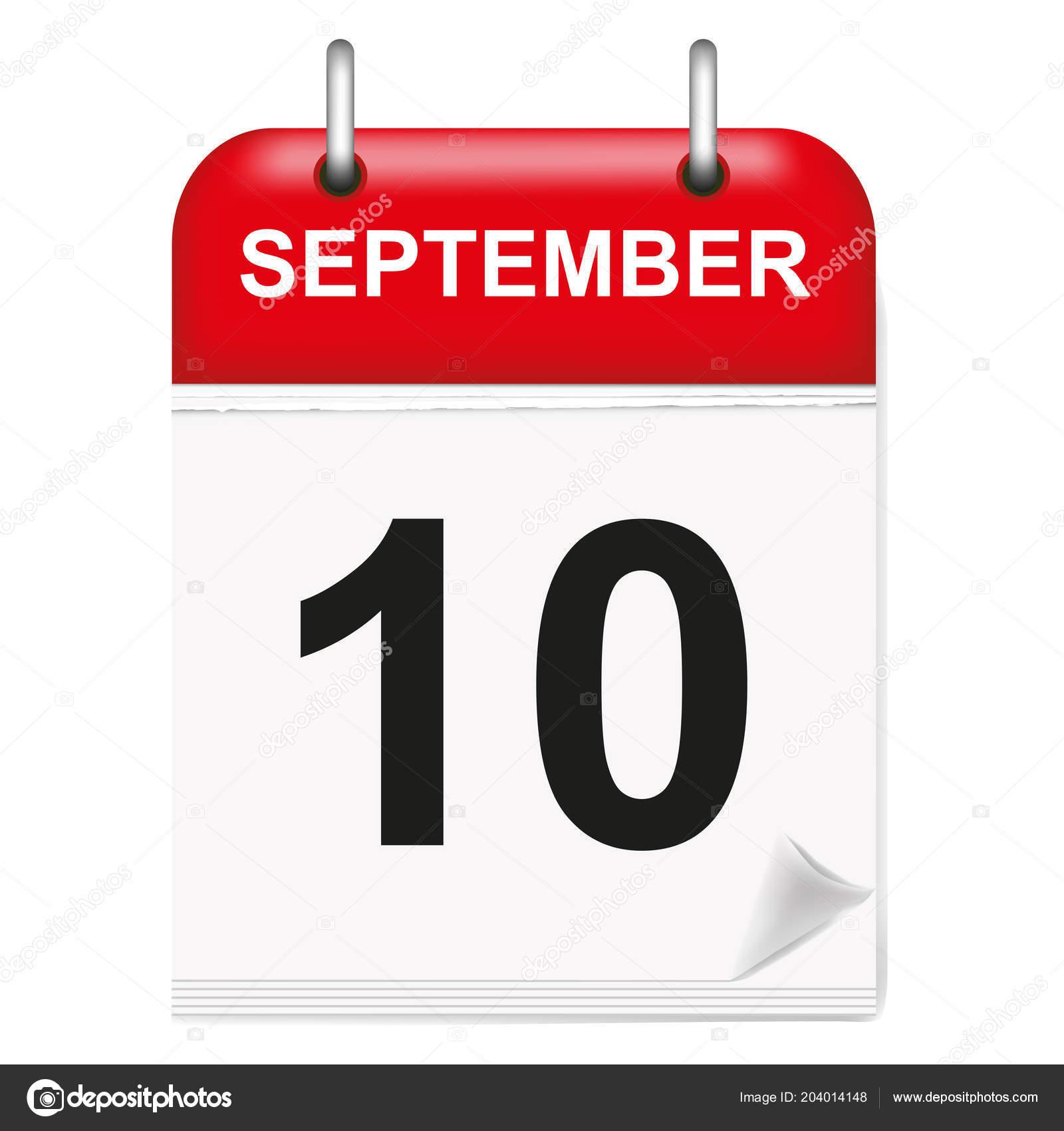 daily calendar single leaf rings red spine september 10th tenth