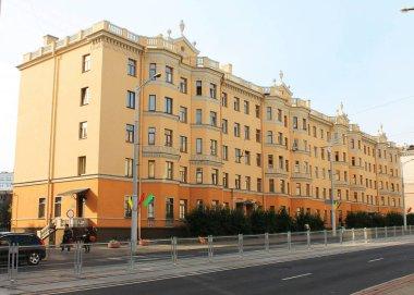 The capital of the Republic of Belarus. - Minsk city. The beginning of Ulyanovskaya street.