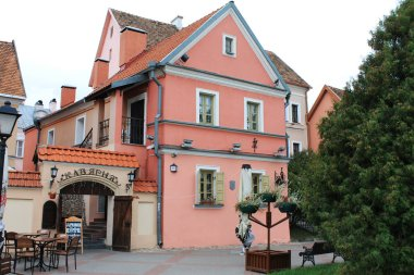 The capital of the Republic of Belarus is Minsk. Trinity Suburb. Cafe-brewery.
