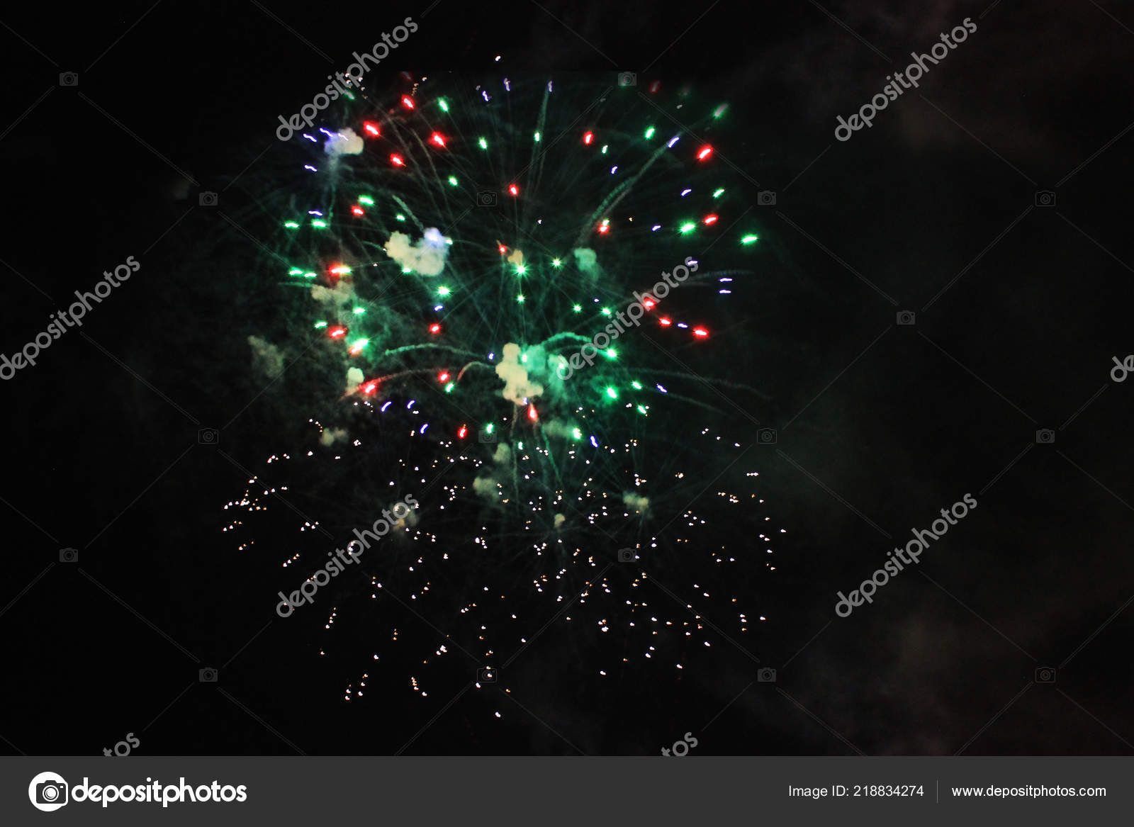 Fireworks Salute Sky Background Amazing Flash Bright Red