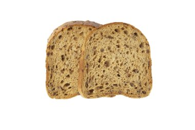 Slices of grain bread with mold.