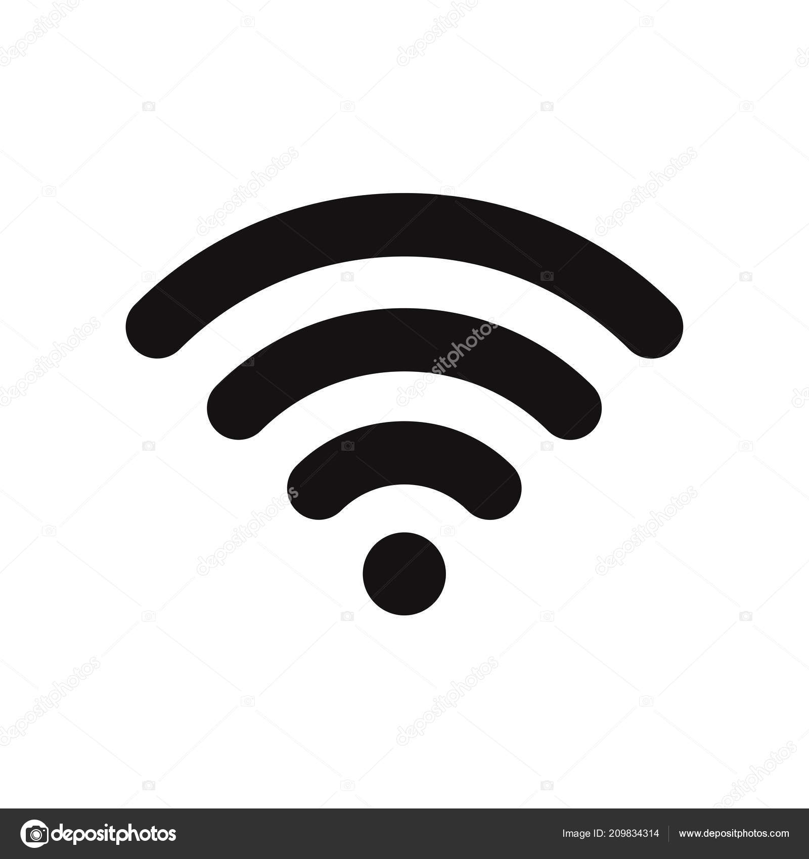 wifi signal icon wireless symbol connection internet network flat Wireless Network Connection Symbol wifi signal icon wireless symbol connection internet network flat vector \u2014 stock vector