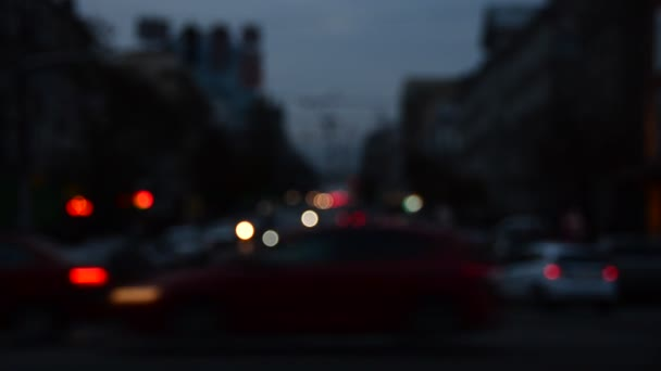 Rozostřený scéna rozmazané automobilové dopravy
