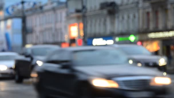 Unfocused Scene of Blurred Car Traffic