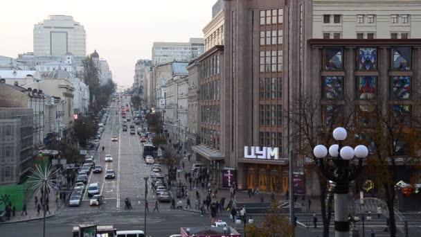 people walking on the central street of Khreschyatik, Kyiv, Ukraine