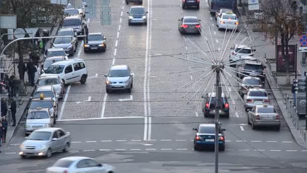 Provoz na hlavní Kyjevské městské ulici