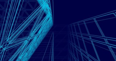 abstract architectural wallpaper, digital background