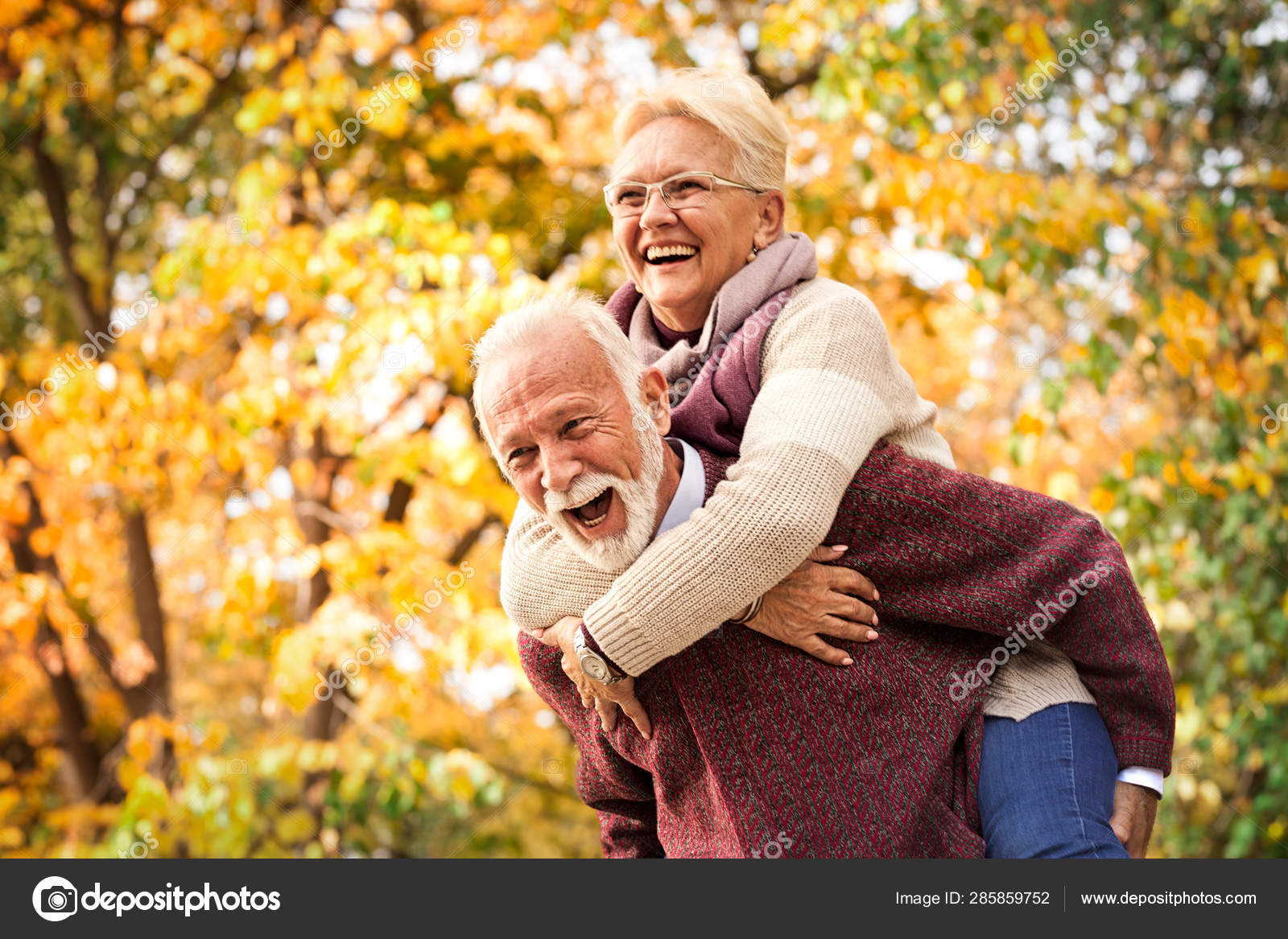 The Older Couple Having Fun Entertained After All These Years As