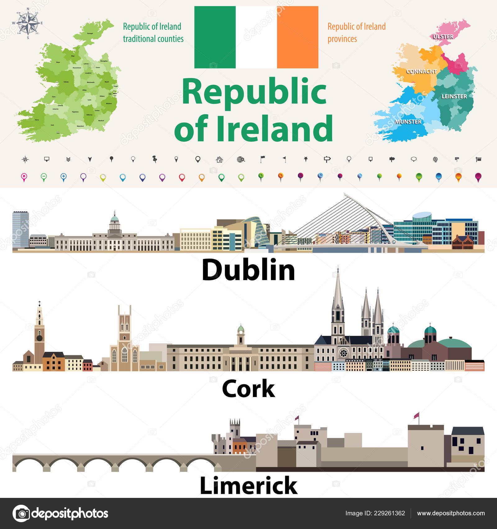 Irland Karte Städte.Traditionellen Länder Und Provinzen Karte Irland Und Irische Größte