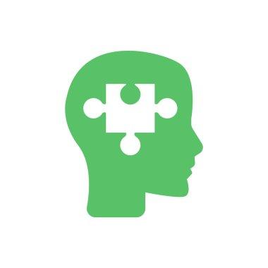 Puzzle Piece Silhouette Head - Psychology concept
